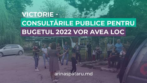 Am obținut prima victorie. Consultările publice Pentru bugetul 2022 Vor avea loc