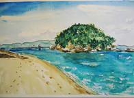 白石島から臨む弁天島