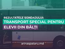 Rezultatele sondajului: Transport special pentru elevii din Bălți