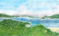 島に連なる青い空