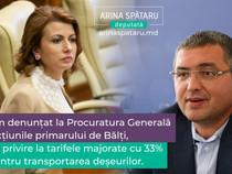 Am denunțat la Procuratura Generală acțiunile primarului de Bălți, cu privire la tarifele majorate