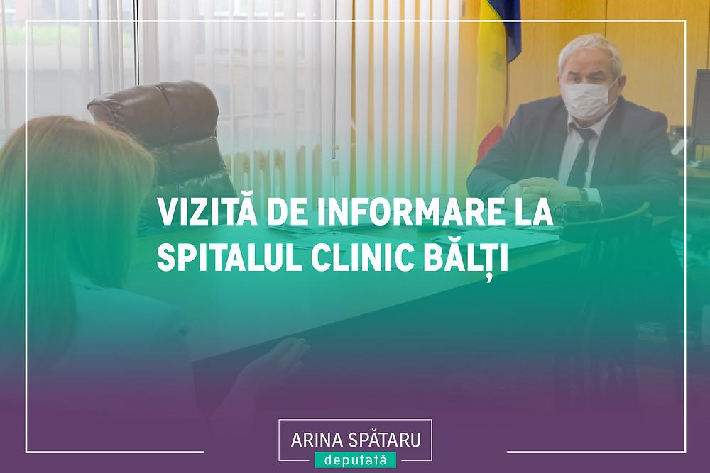Arina Spătaru - vizită de informare la Spitalul Clinic Bălți.jpg