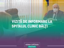 Vizită de informare la Spitalul Clinic Bălți