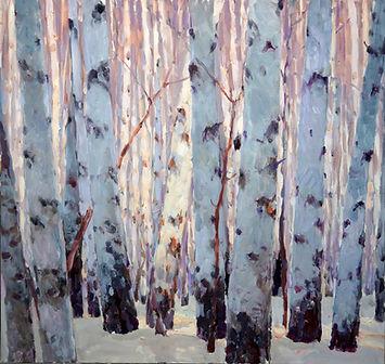 AMONG THE TREES 36X36 OC.JPG