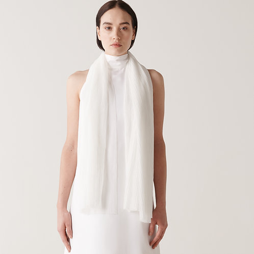 Sheer Pleated Scarf