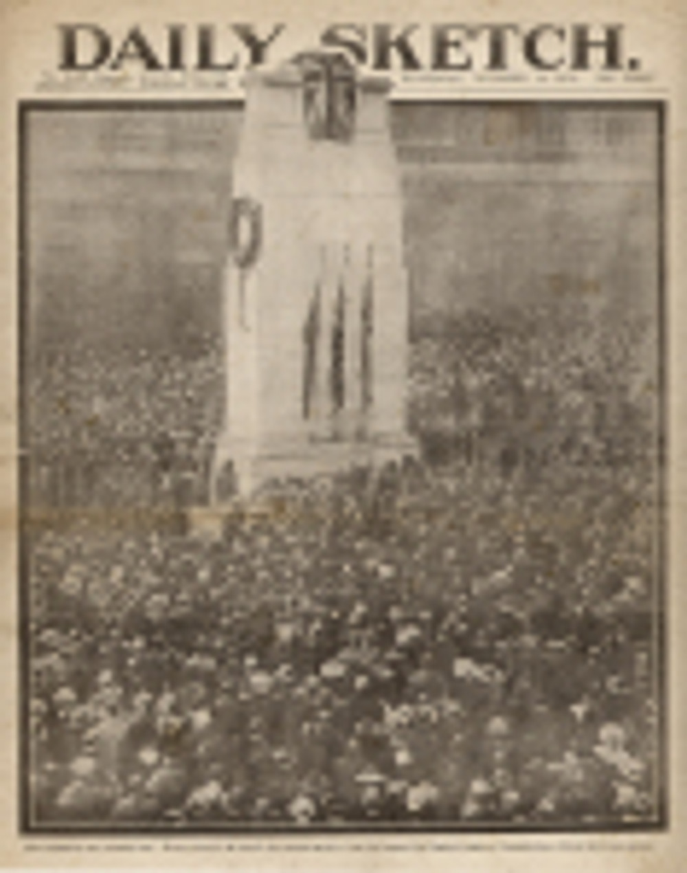 First Remembrance Day, Cenotaph, London