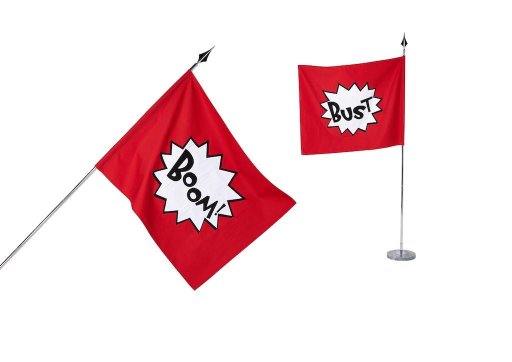 BIG £ANG! BOOM + BU$T flags