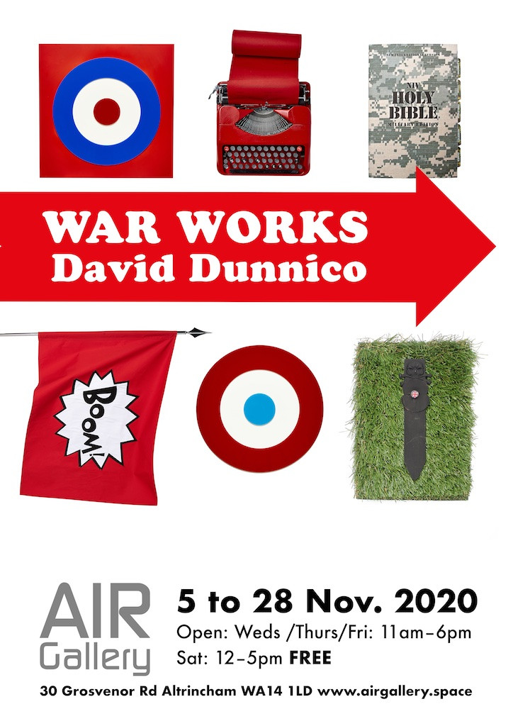 Poster for War Works Exhibition by David Dunnico