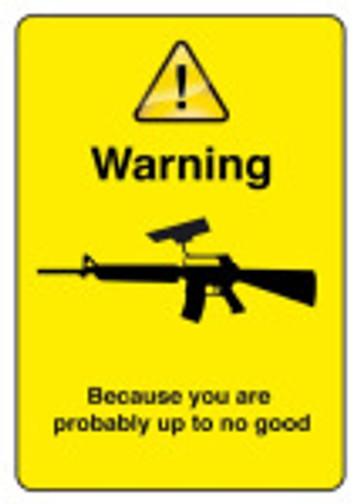 gun warning cctv