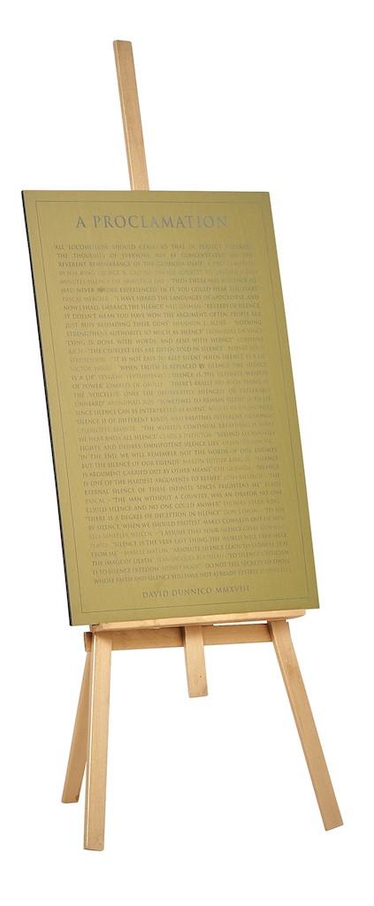 A Proclamation: Silenced!