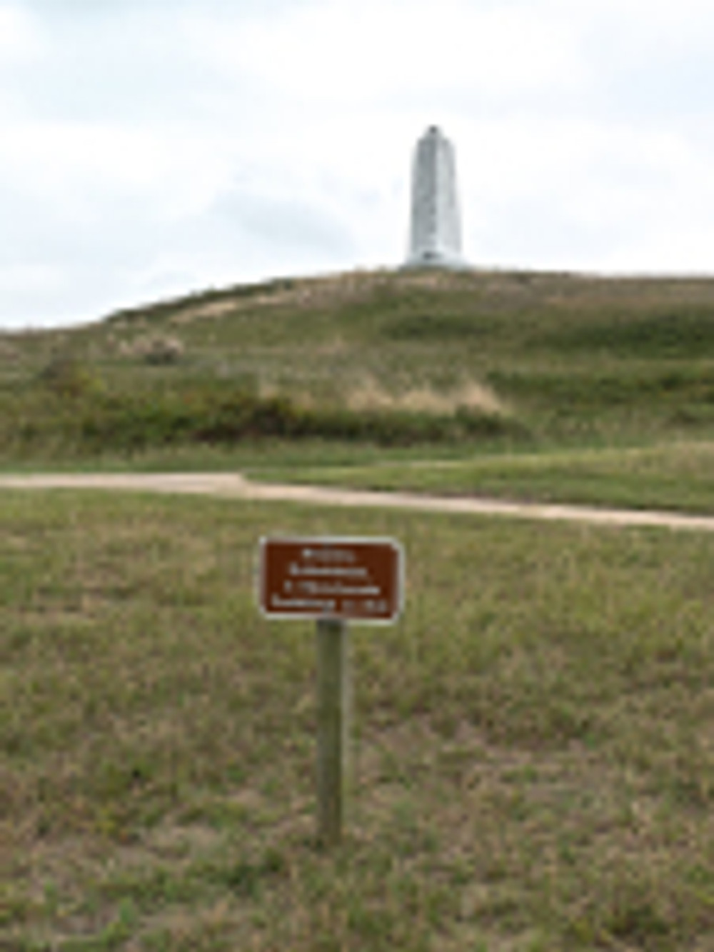 wright brothers memorial sign