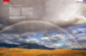 Image of a rainbow over the Karoo in South Africa