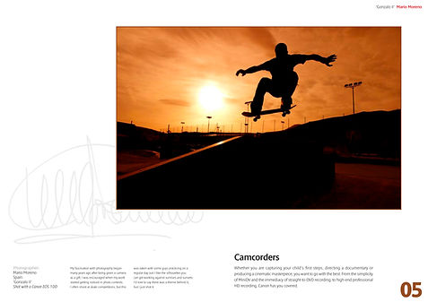 Image of a skater at sunset