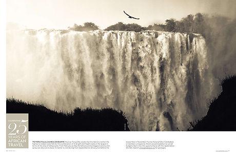 View of Victoria Falls in Zambia