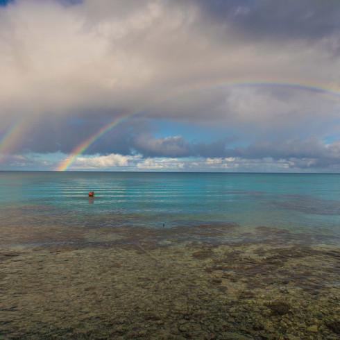 Tiputa Rangiroa rainbow