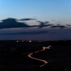 Photo de nuit depuis les hauteurs de Sancerre