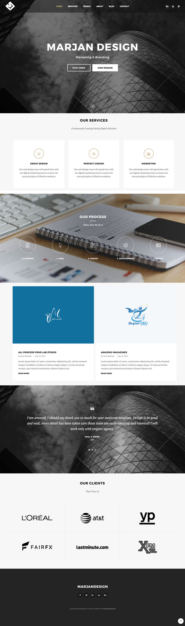 Marjan Design Website