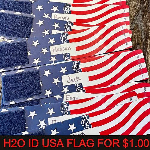 H2OID® AMERICAN FLAG FOR A DOLLAR