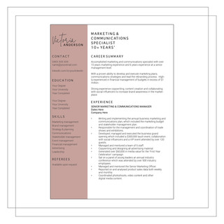 Resume Example H