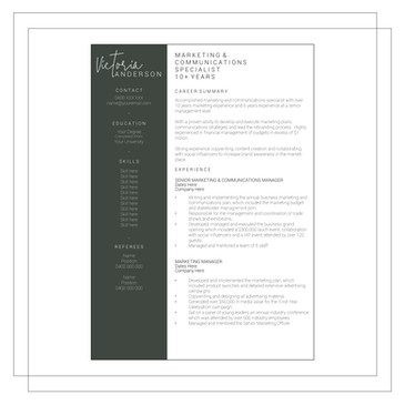 Resume Example L