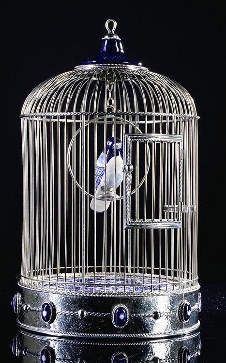 Jaula cilíndrica azul