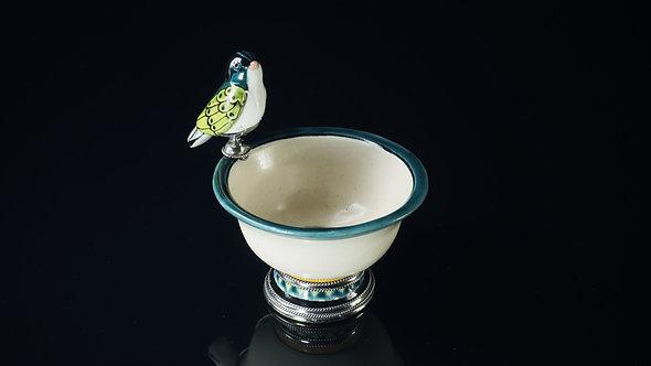 Fuente pájaro verde