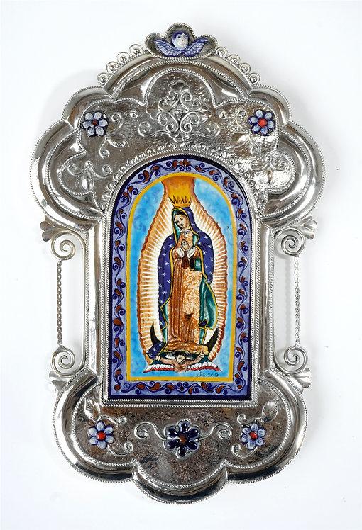 Virgen de Guadalupe placa