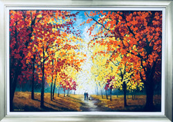 """Or World"" Oil on Canvas #205 Framed"