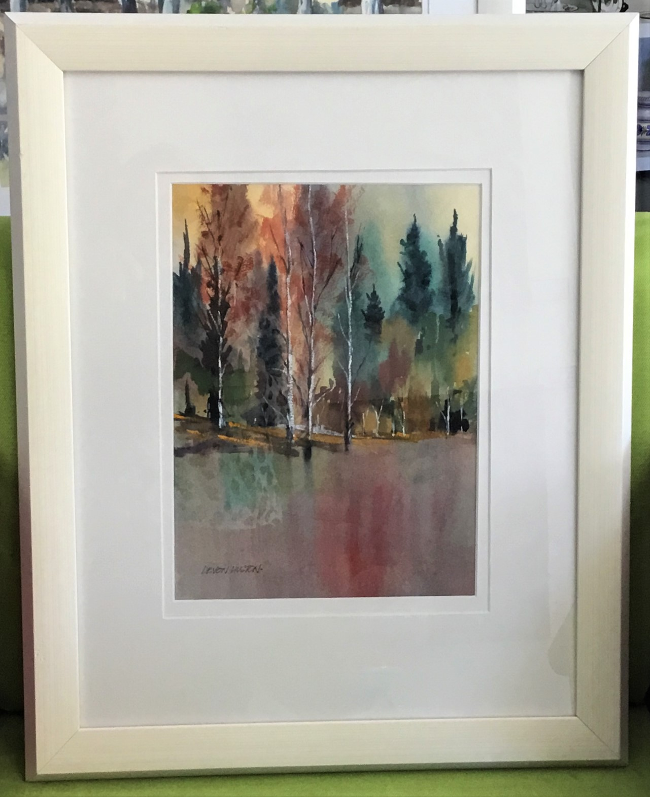 Tall Trees Water Colour Framed