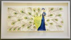Indigo Wise - Peacock PRINT Framed
