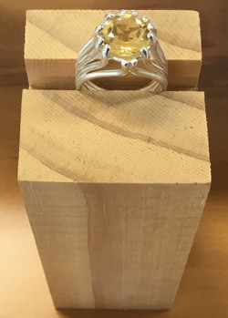 Citrine And Stirling Silver