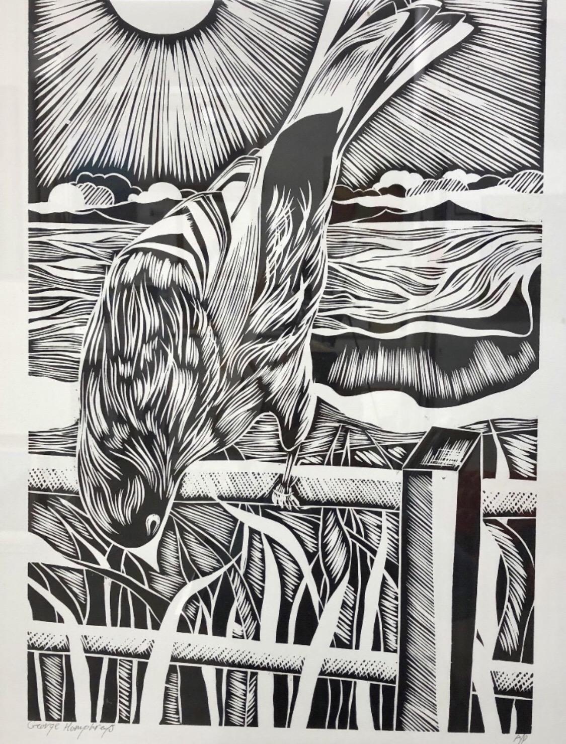 Tui Wood Cut Print