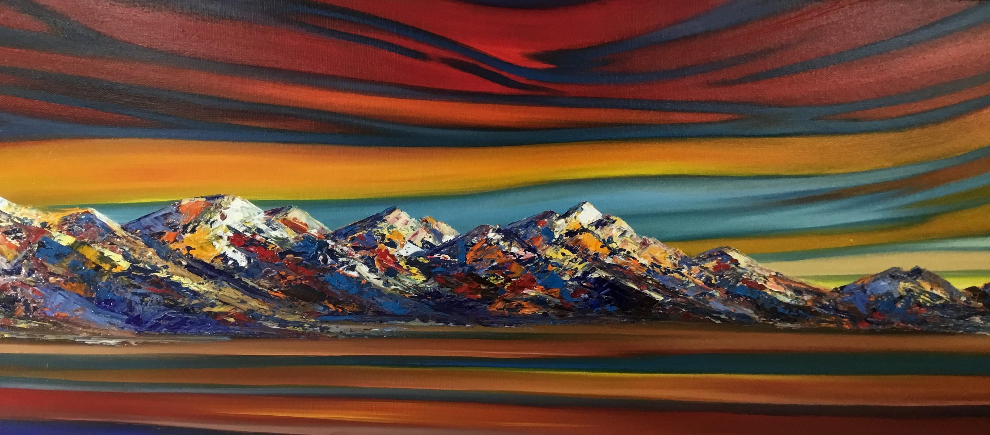 Majestic Kaikoura Sunrise Oil On Canvas