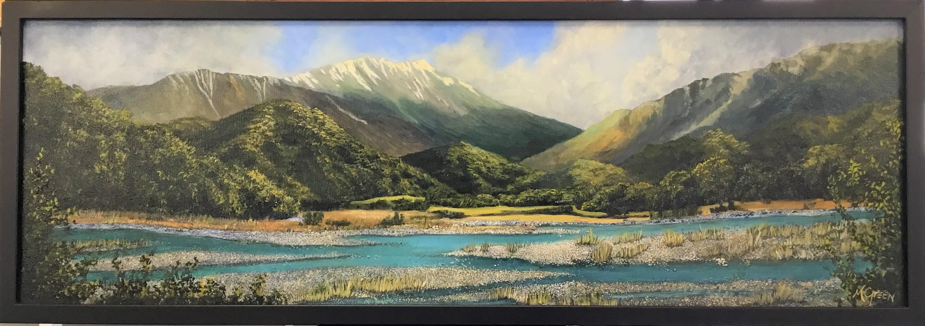 Coast Acrylic On Canvas Framed