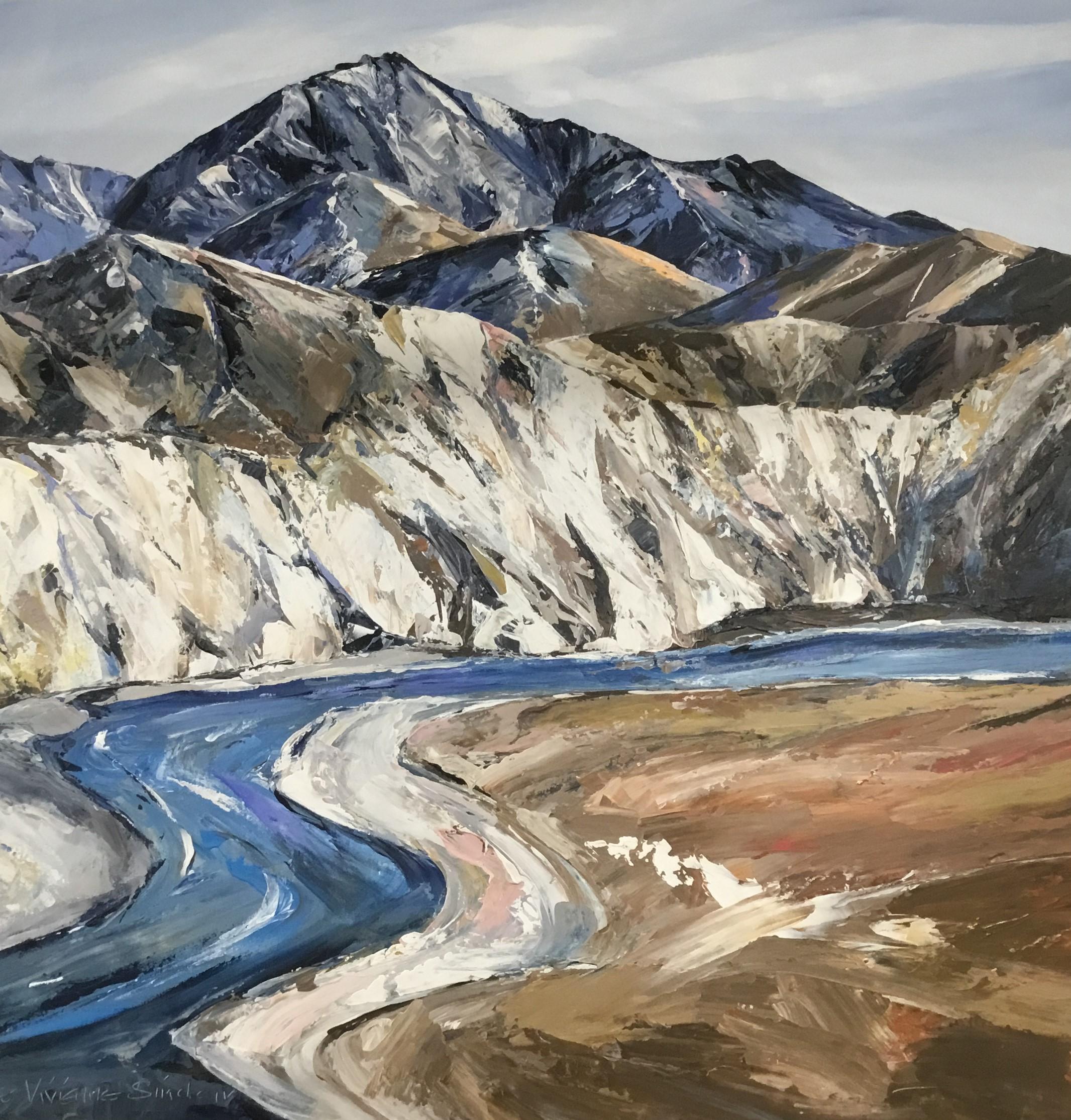 Jane Sinclair - Rakaia Gorge Oil On Canvas