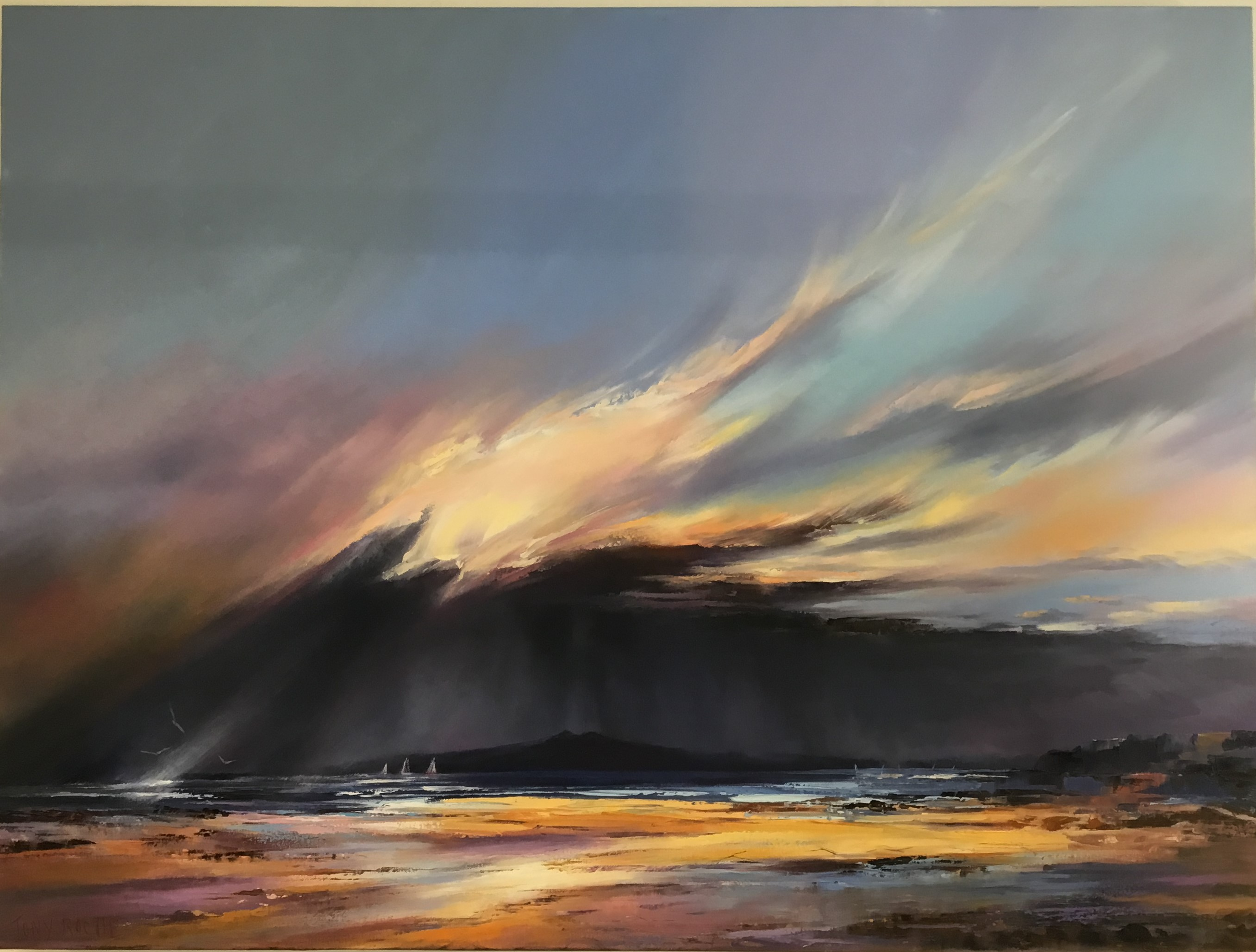 Storm Breaking oil on Canvas