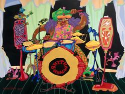 The Drummer Acrylic On Canvas