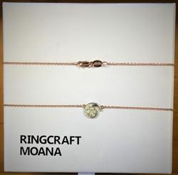 Kiwi Platinum Diamonds And 9ct Gold Necklace