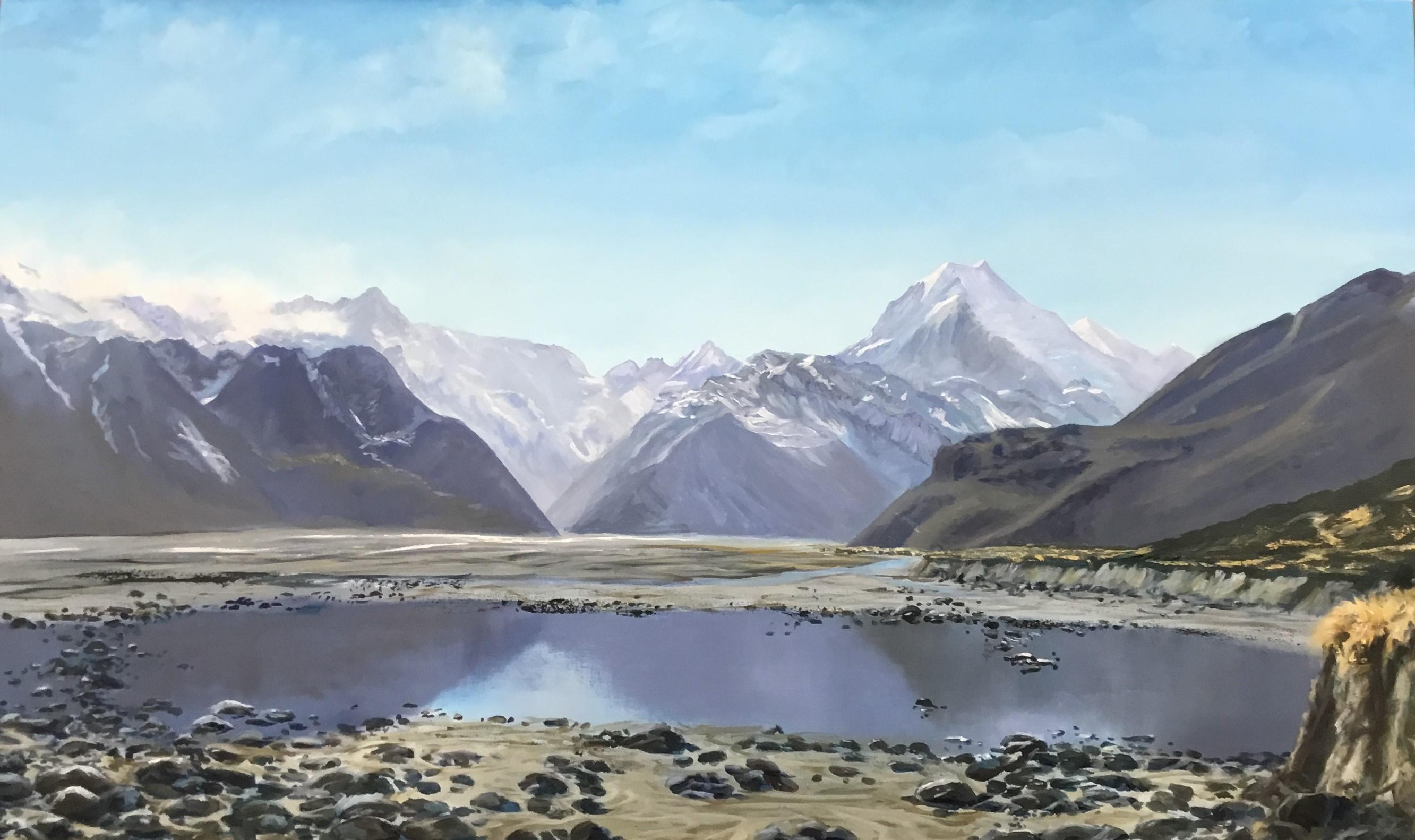 Debbie Lambert - Mount Cook Oil On CanvasOriginal