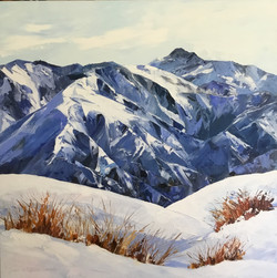 Jane Sinclair - Top Of The Mountains Oil On Canvas