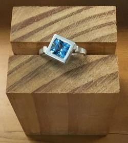 Ringcraft Moana - Bauhaus Topaz And Stirling Silver Ring
