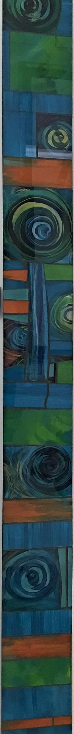 Aqua Art On Glass