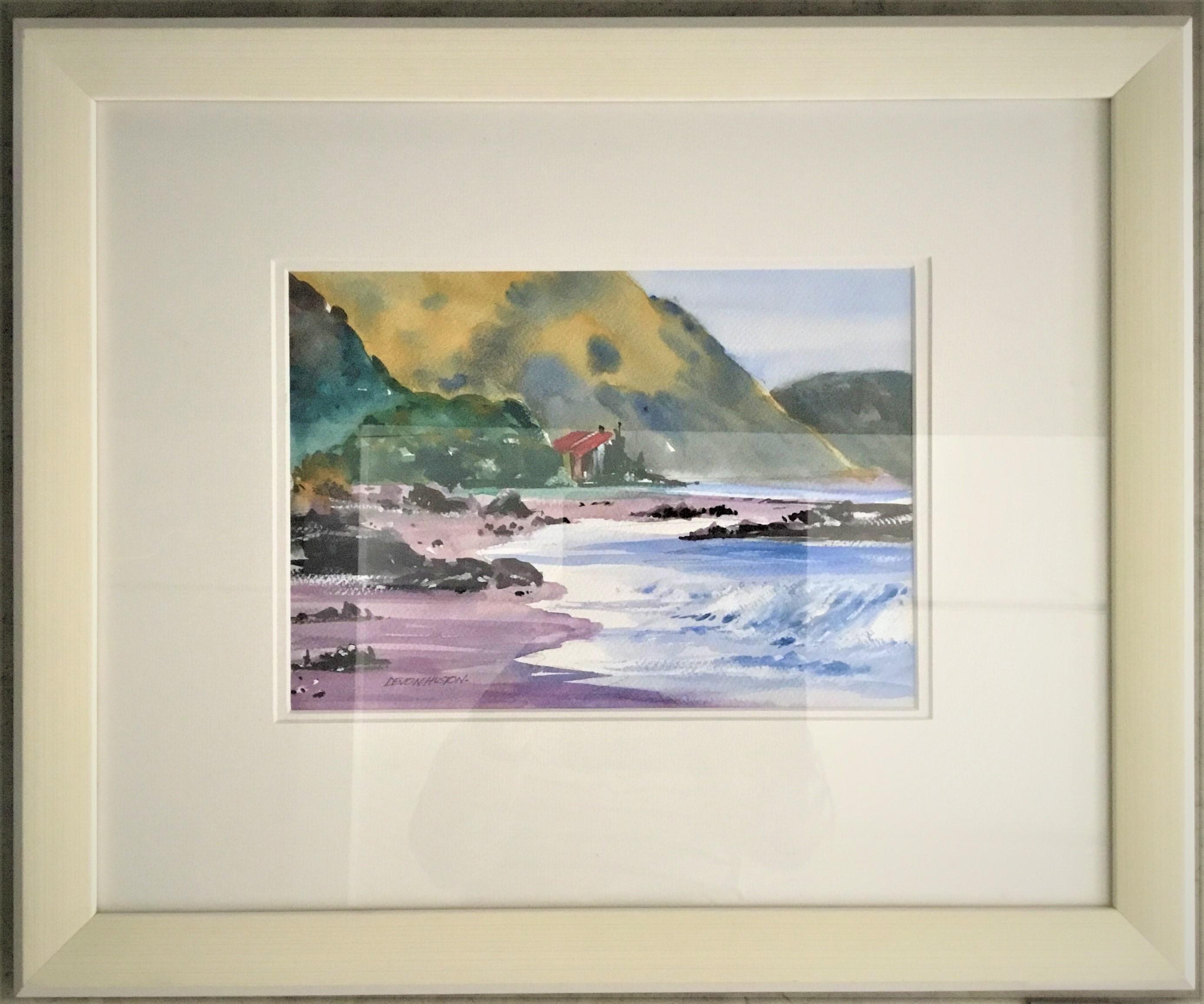 Kaikoura Coast Water Colour Framed