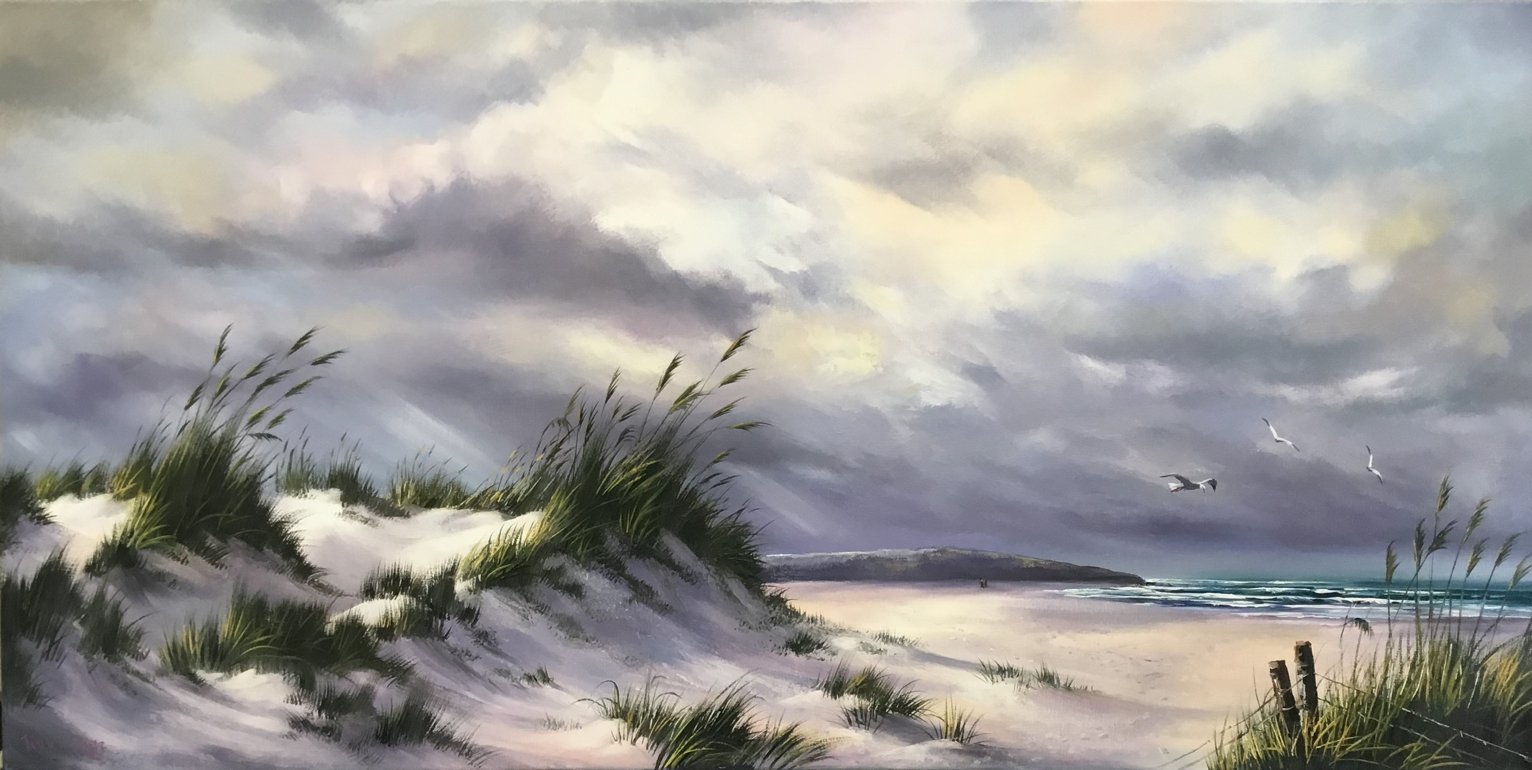 """""""Storm Coming"""" Oil on Canvas"""