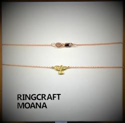 Kereru 9ct Gold And Diamond Necklace