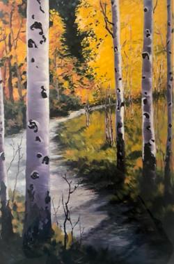 """Up the Garden Path"" PRINT #191 Framed"