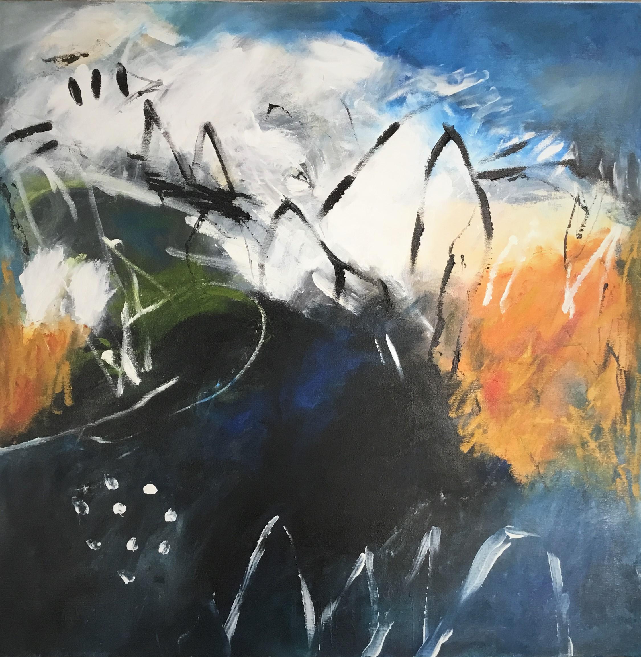 Anne Dillon - Wild World Acrylic On Canvas