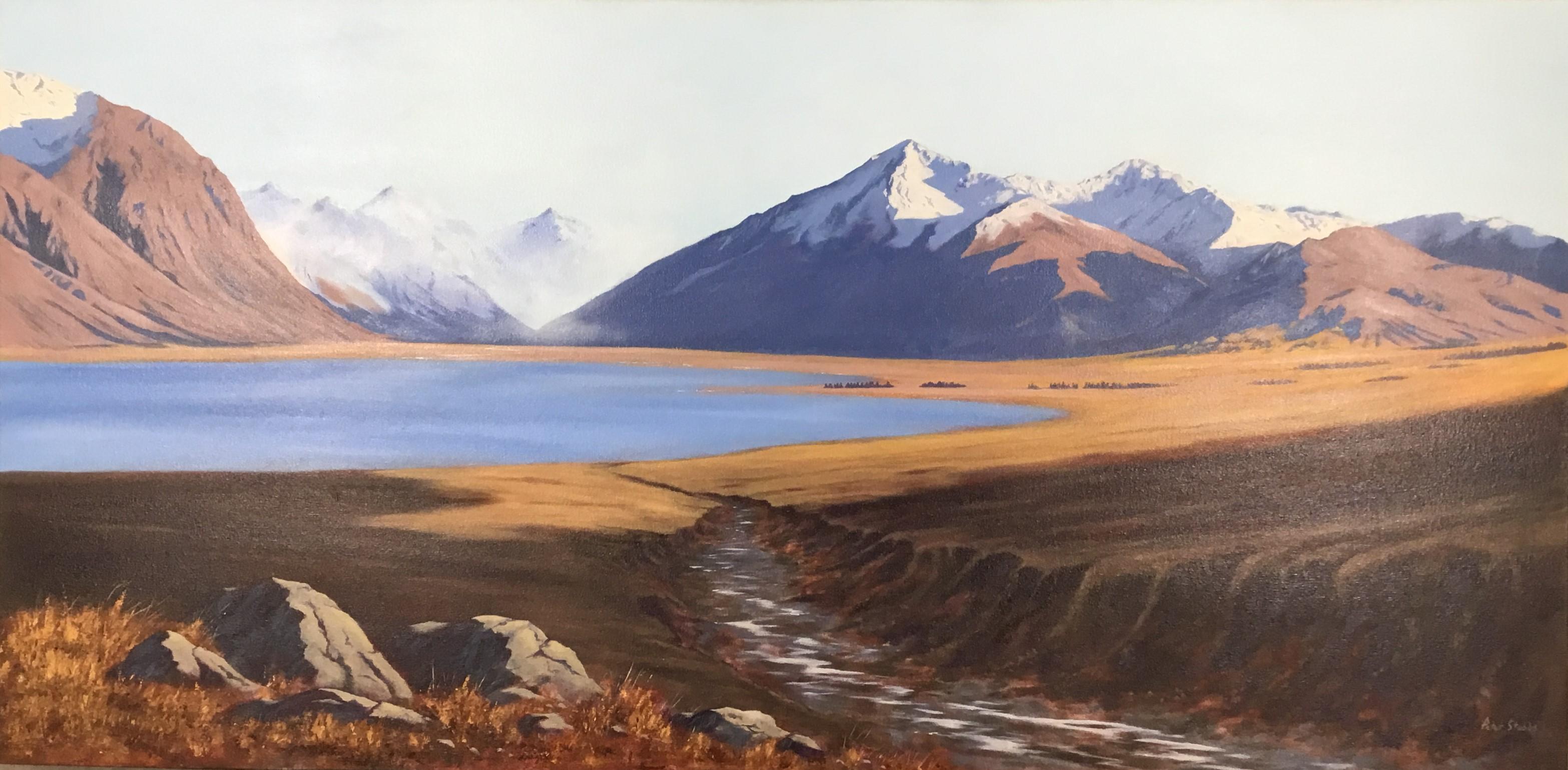 Peter Stubbs - Lake Tekapo Oil On Canvas
