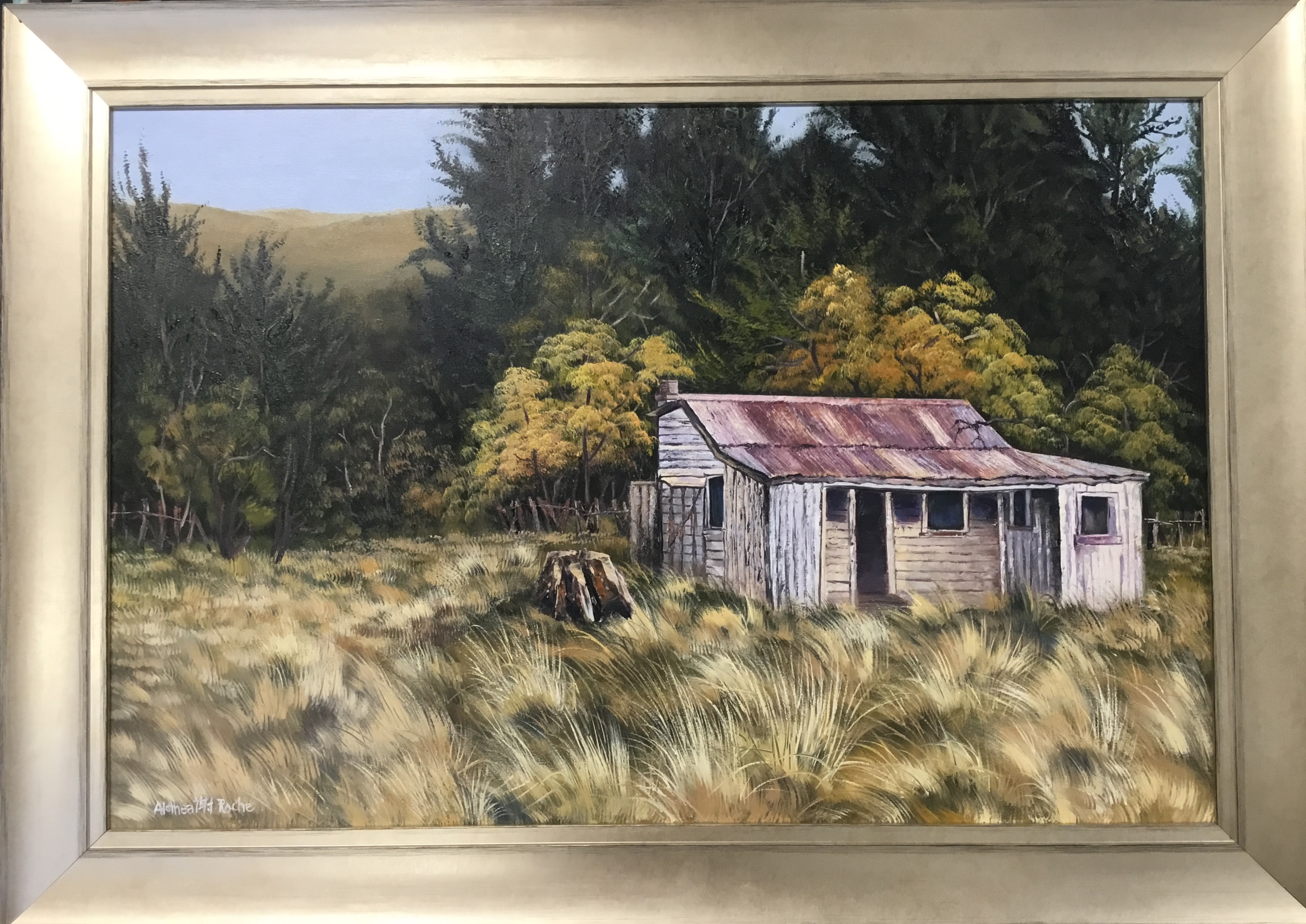 """Kimble On The Way To Fairlie"" Oil On Canvas # 238 Framed"