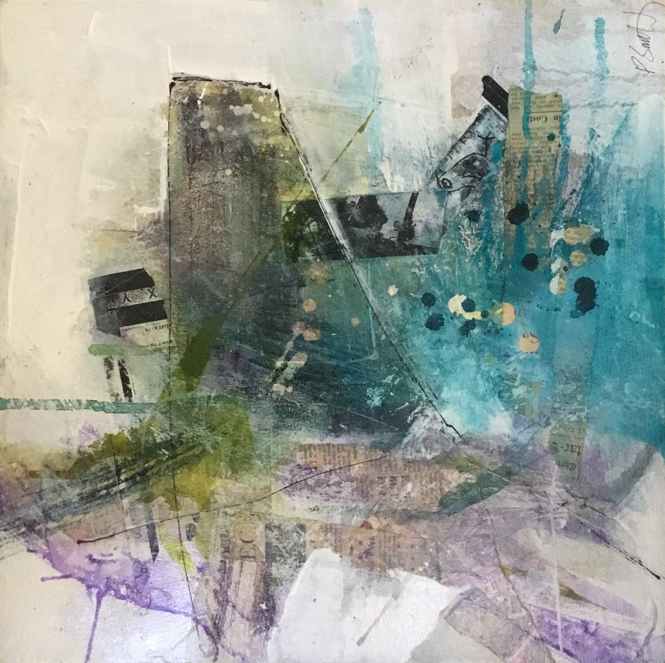 Paul Smith - Fragment Series 3 Mixed Media On Canvas